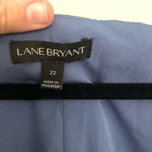 Lane Bryant Tops - Lane Bryant Periwinkle Floral Cold Shoulder Top
